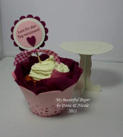 Cupcake und Ständer