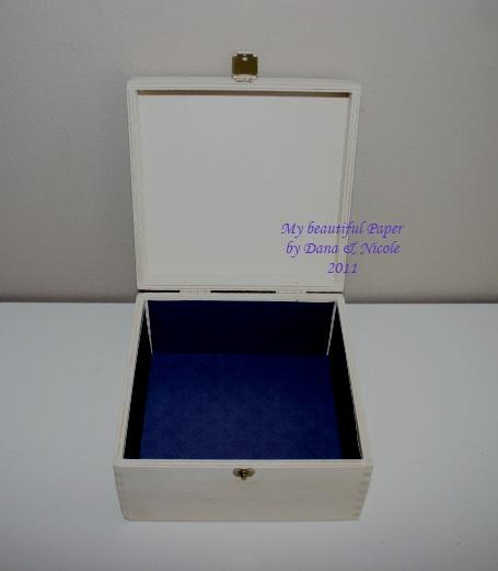 Lavendel Kiste offen