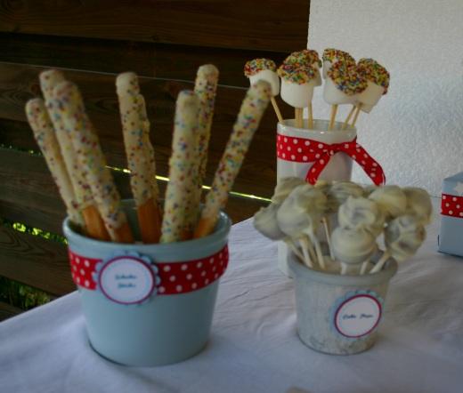 Cake Pops und Pretzel Sticks