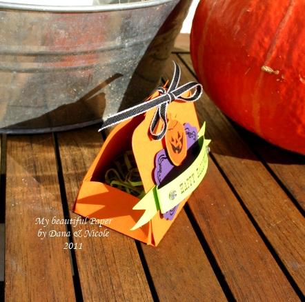Halloween Verpackung Seitenansicht