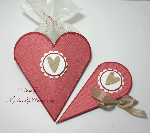 Herz-Verpackung mit Herz-Karte