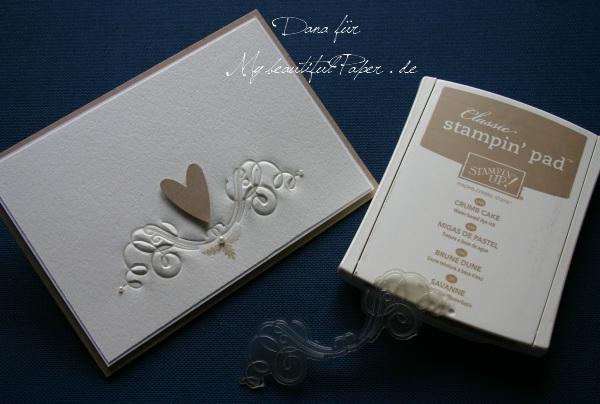 Letterpress mit Stempelfarbe