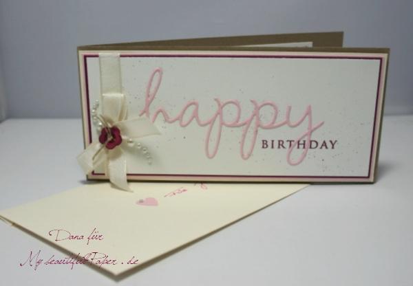 Happy Birthday Karte und Umschlag