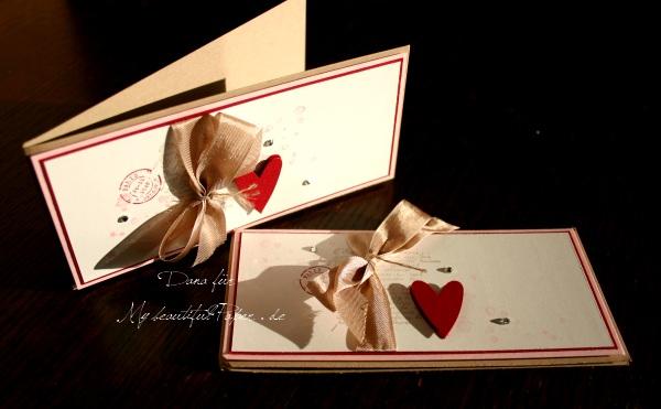 Karten mit Herzchen