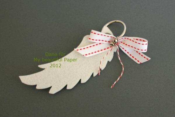 Filz-Flügel Weiß