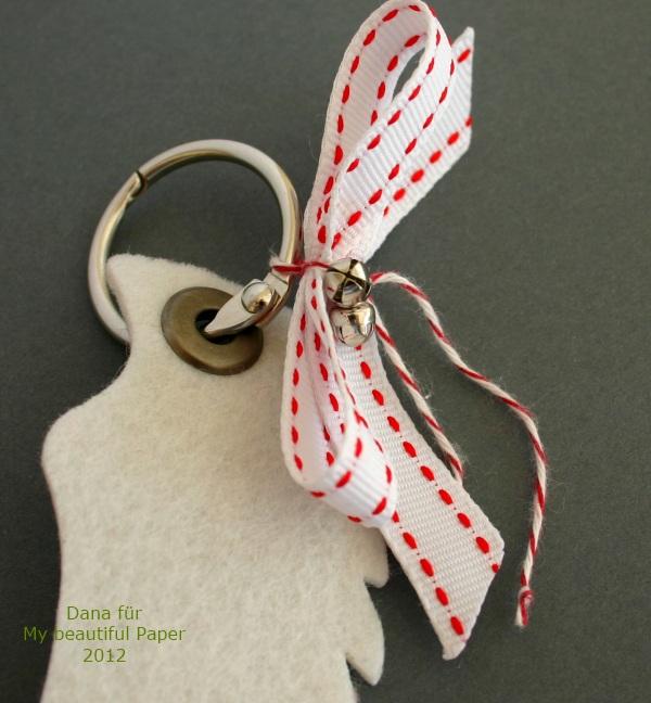 Filz-Flügel Weiß-Rot