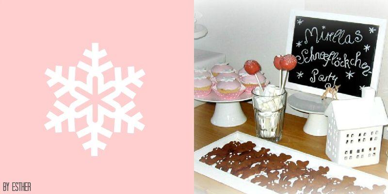 Schneeflöckchen-Cupcakes & Rehkitz