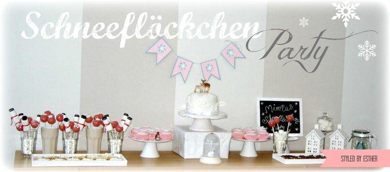 Schneeflöckchen-Party by Esther