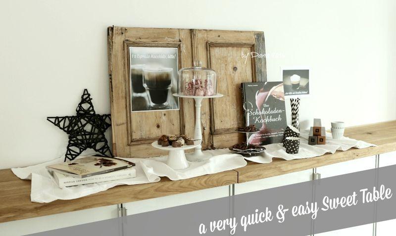 Coffe & Chocolate Sweet Table